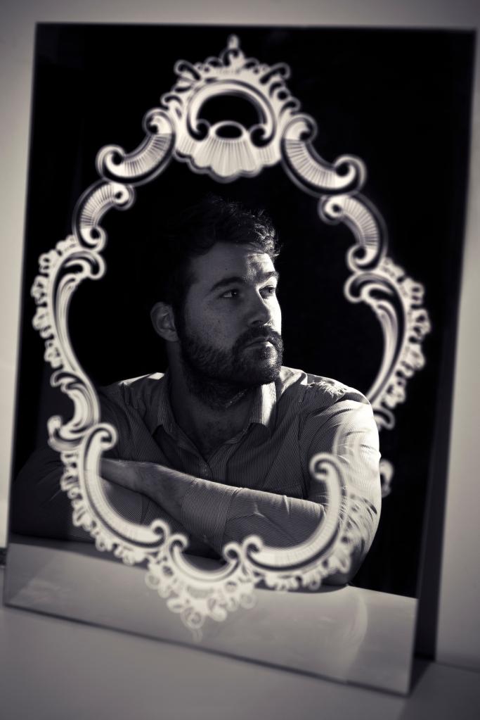 photography photo self portrait mirror flash strobism bw black and white man d700 nikon 50mm