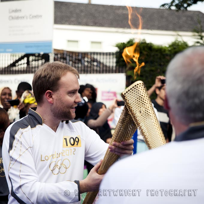 olympic torch relay hackney london 2012 Saturday 21 July olympics torchbearer Jonty Wareing rectory road street photography streettogs photojournalism rob cartwright