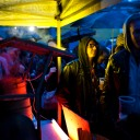 street feast food east london dalston hackney E8 street photography streettogs candid portrait rain rainy summer weather night colours colour lights rob cartwright