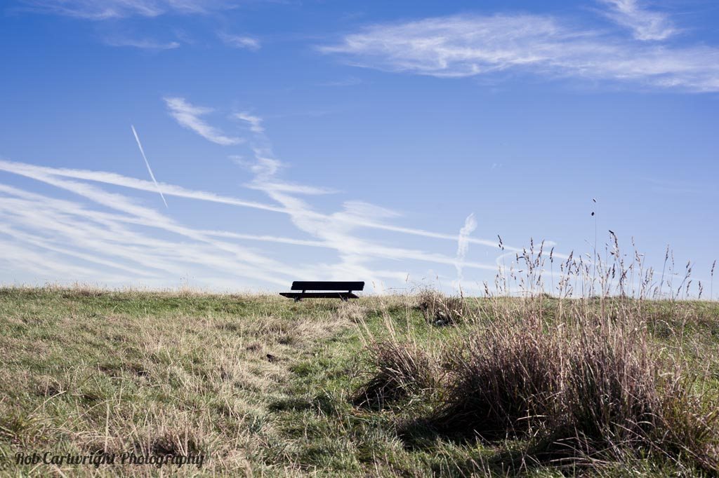 parliament hill camden blue sky clouds city bench green grass hampstead heath park london landscape rob cartwright